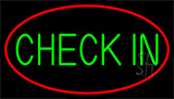 Green Check In Neon Sign