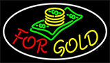 Cash Logo For Gold Neon Sign