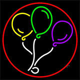 Circle Balloon Logo Neon Sign