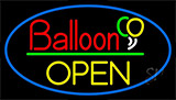 Block Open Balloon Neon Sign