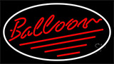 Red Balloon Cursive Neon Sign