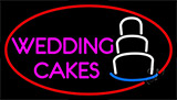 Pink Wedding Cakes Neon Sign