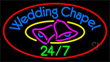 Wedding Chapel With Bell Neon Sign