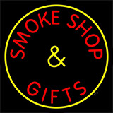 Smoke Shop And Gifts With Yellow Border Neon Sign