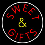 Sweets And Gifts With Border Neon Sign