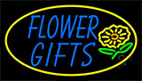 Blue Flower Gifts In Block Neon Sign