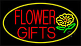 Flower Gifts In Block Neon Sign