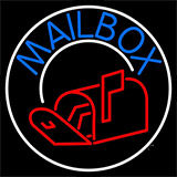 Mailbox With Logo Circle 1 Neon Sign
