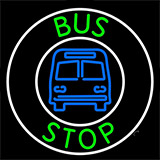 Green Bus Stop Neon Sign