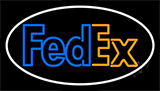 Fedex Logo With Neon Sign