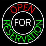 Open For Reservation With Border Neon Sign