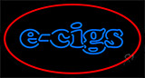 E Cigs Red Border Neon Sign
