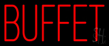 Red Simple Buffet Neon Sign