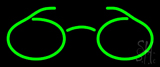 Green Glasses Logo Neon Sign
