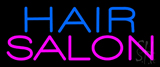 Blue Hair Salon Pink Neon Sign