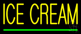 Yellow Ice Cream Green Line Neon Sign
