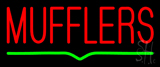 Red Mufflers Green Line Neon Sign