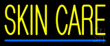 Yellow Skin Care Blue Line Neon Sign