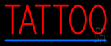 Red Tattoo Blue Line Neon Sign