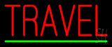 Red Travel Green Line Neon Sign