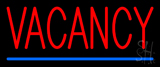 Red Vacancy With Blue Line Neon Sign