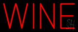 Red Colored Wine Neon Sign