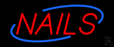 Deco Style Red Nails Neon Sign