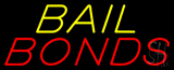 Yellow Bail Red Bonds Neon Sign