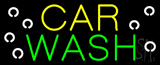 Yellow Car Green Wash Neon Sign