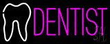 Pink Dentist Logo Neon Sign