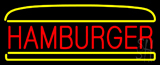 Red Hamburger Logo Neon Sign