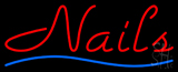 Red Nails Blue Waves Neon Sign