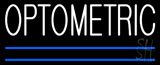 White Optometric Blue Lines Neon Sign