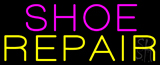 Purple Shoe Yellow Repair Neon Sign