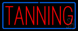 Red Tanning Blue Border Neon Sign
