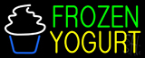 Green Frozen Yogurt Yellow Logo Neon Sign