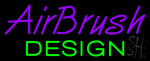 Purple Airbrush Green Design Neon Sign