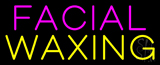 Pink Facial Yellow Waxing Neon Sign
