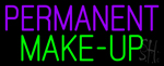 Purple Permanent Green Make Up Neon Sign