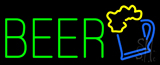 Green Beer Logo Neon Sign