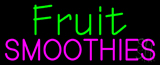 Green Fruit Smoothies Pink Neon Sign