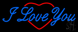 I Love You Logo Heart Logo Neon Sign
