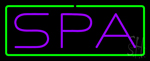 Purple Spa Green Border Neon Sign