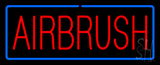Red Airbrush With Blue Border Neon Sign