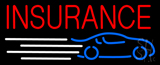 Red Car Insurance Neon Sign