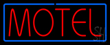Red Motel With Blue Border Neon Sign