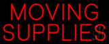 Red Moving Supplies Block Neon Sign