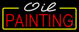 White Oil Red Painting Neon Sign
