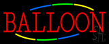 Balloon Multicolored Deco Style Neon Sign