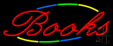 Multi Colored Books Neon Sign